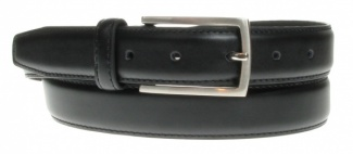30mm Black Feather Edge Belt With Soft Inner Lining Style 8196