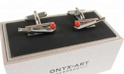 Cricket Wicket, Bat and Ball Cufflinks