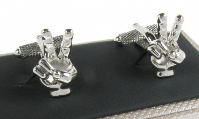 V For Victory Cufflinks