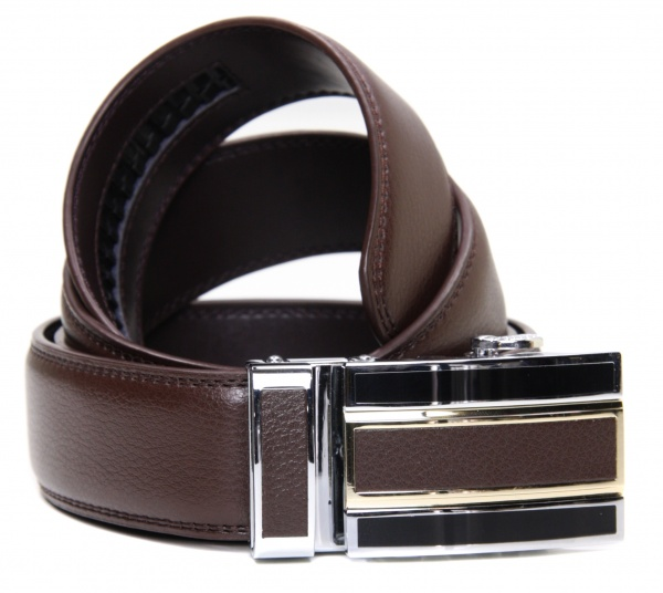 mens gift boxed brown leather ratchet belt gents shop