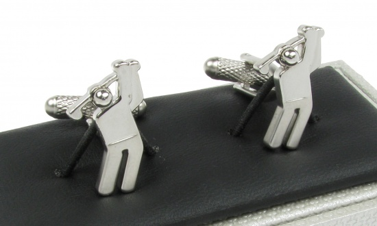 Golfer cufflinks golf cufflinks gents shop for Golf buflings