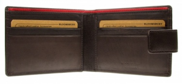 Bloomsbury Leather Wallet Brown With Red Trim 5914