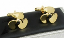 Gold Colour Ships Propeller Cufflinks