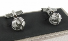 Classic Silver Coloured Knot Cufflinks