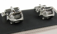 Anglers Fishing Reel Cufflinks