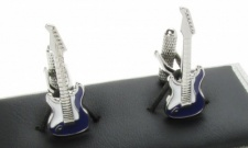 Electric Guitar Cufflinks - Purple and White