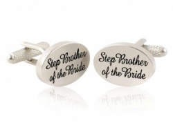 Step Brother of the Bride  Wedding Cufflinks