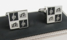 Square Shaped Musical Notes Cufflinks