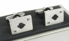 Ace of Spades Playing Cards Cufflinks