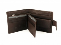 Toscana Brown Leather Tab Wallet 153 44