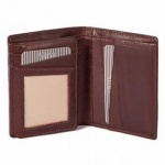Mala Brown Leather Verve Bi Fold Shirt Wallet Style 13026
