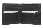 Black Mala Leather Origin Tab Wallet With Tray Coin Purse