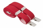 Slim 25mm Red Trouser Braces