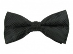 Black Bow Tie with Check Pattern