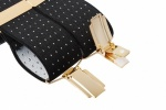 Black Trouser Braces with Small White Polka Dots