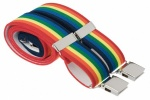 Bright Multicoloured Rainbow Elastic Trouser Braces