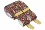 Burgundy Paisley Trouser Braces