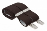 Plain Dark Brown Trouser Braces Suspenders