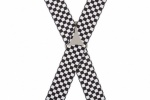 Black and White Checkered Braces