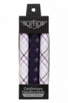 Purple Check and Purple Fleur De Lis Handkerchiefs