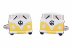 Yellow Campervan Cufflinks