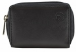 Black Mala Leather Origin Concertina Credit Card Holder with RFID Protection 552 5