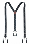 Black Masonic Combination Button and Clip On Trouser Braces