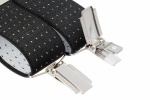Black Suit Trouser Braces With White Dots