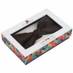 Brown Bow Tie with Diagonal Stripe