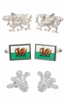Gift Set of Welsh Cufflinks