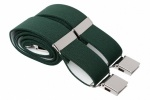 Green Trouser Braces With Heavy Duty Clips