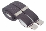 Grey Polka Dot Trouser Braces With Large Clips