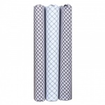 Grey and White Checked Patterned Handkerchiefs