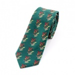 Green Huntsman Tie with Horse and Hound