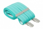 Aqua Turquoise Trouser Braces With Thin Stripes