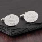 Oval Personalised Cufflinks