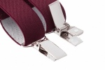 Slim 25mm Burgundy Trouser Braces