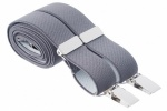 Slim 25mm Dark Grey Trouser Braces