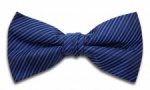 Blue Bow Tie with Diagonal Stripe
