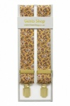 Gold Paisley Mens Trouser Braces