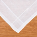 Twin Pack Men's White Handkerchiefs