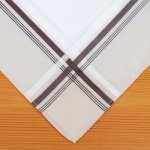 White Handkerchiefs with Coloured Border