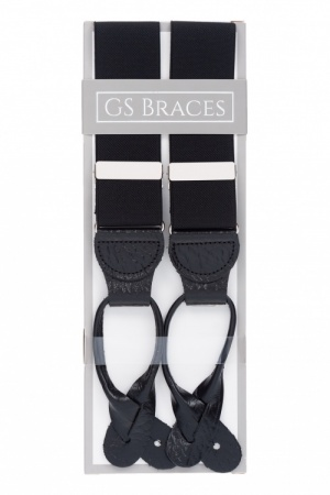 Black Button On Trouser Braces