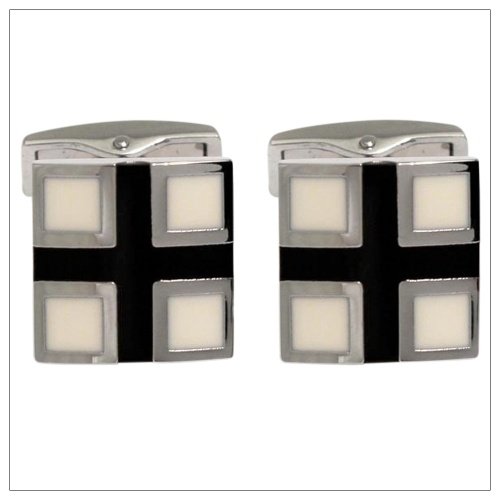 Cream and Black Cufflinks for Shirts
