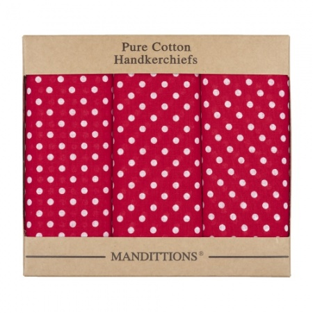 Extra Large Red Spotted Hankies