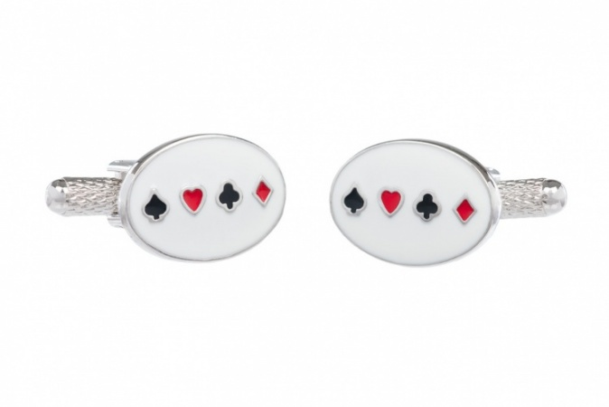 Playing Card Cufflinks - Four Card Suit