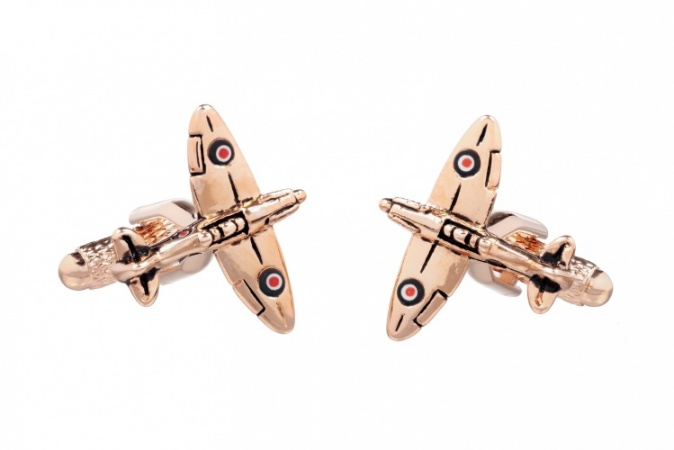 Rose Gold Spitfire Cufflinks