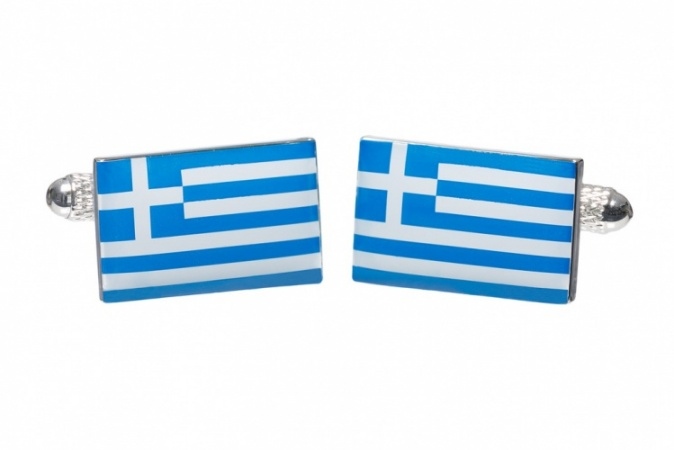 Greek Flag Cufflinks
