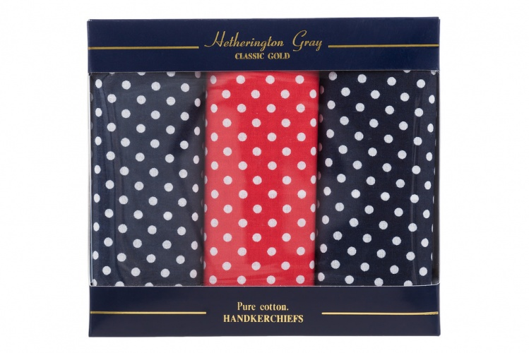 Blue Red Spotted Handkerchiefs Red Spotted Hanky Gents Shop