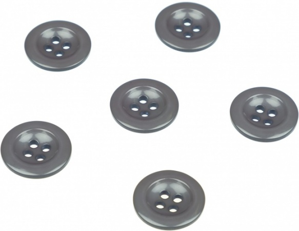 Pack of 6 Grey Sew on Buttons for Braces Trousers